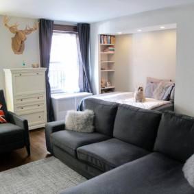 salon chambre 17 m² idées
