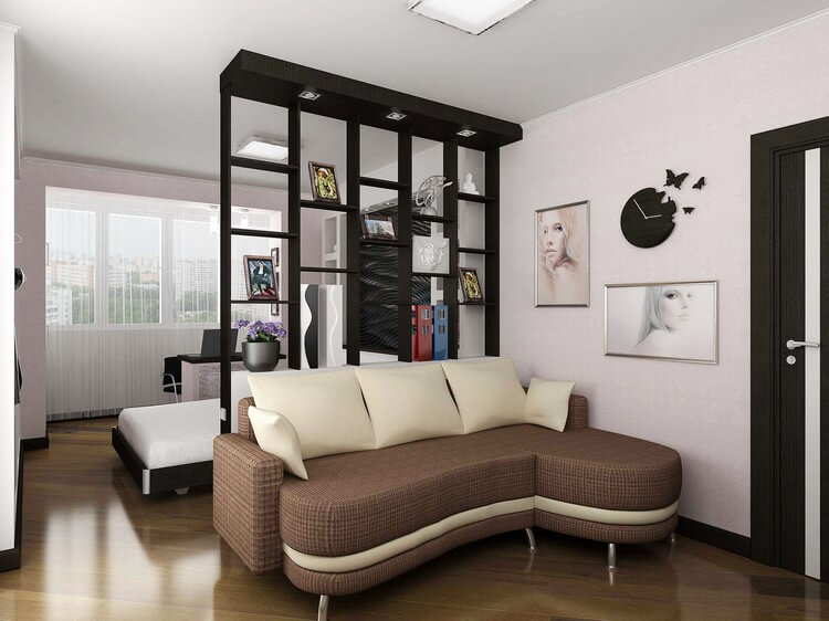 chambre-salon 18 m² photo de décoration