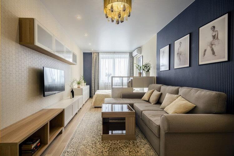 chambre-salon 18 m² décor