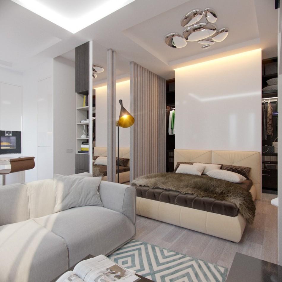chambre-salon 18 m² photo design