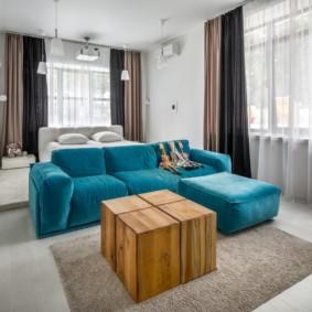 chambre-salon 18 m² idées de photo