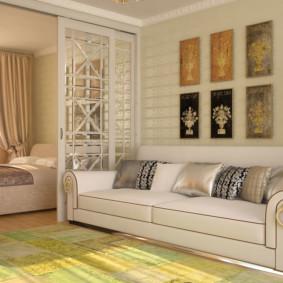 chambre-salon 18 m² intérieur photo