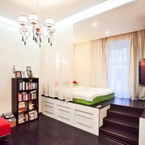 chambre-salon 18 m² conception photo