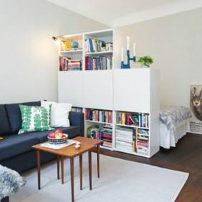 chambre-salon 18 m² espèces photo