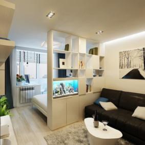 chambre-salon 18 m² idées d'intérieur