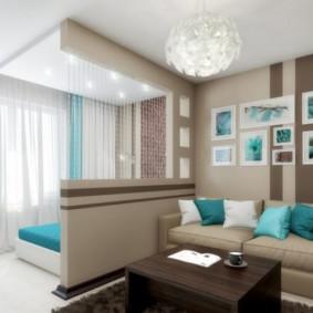 chambre-salon 18 m² sortes d'idées