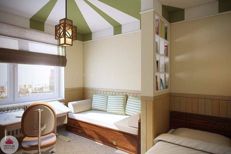 chambre-salon 18 m² espèces