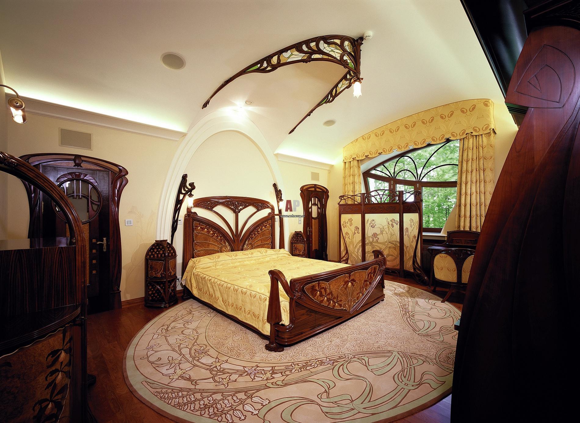 Design de chambre Art Nouveau