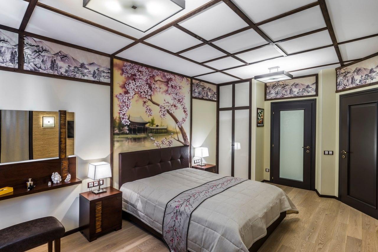 photo de conception de chambre de style japonais