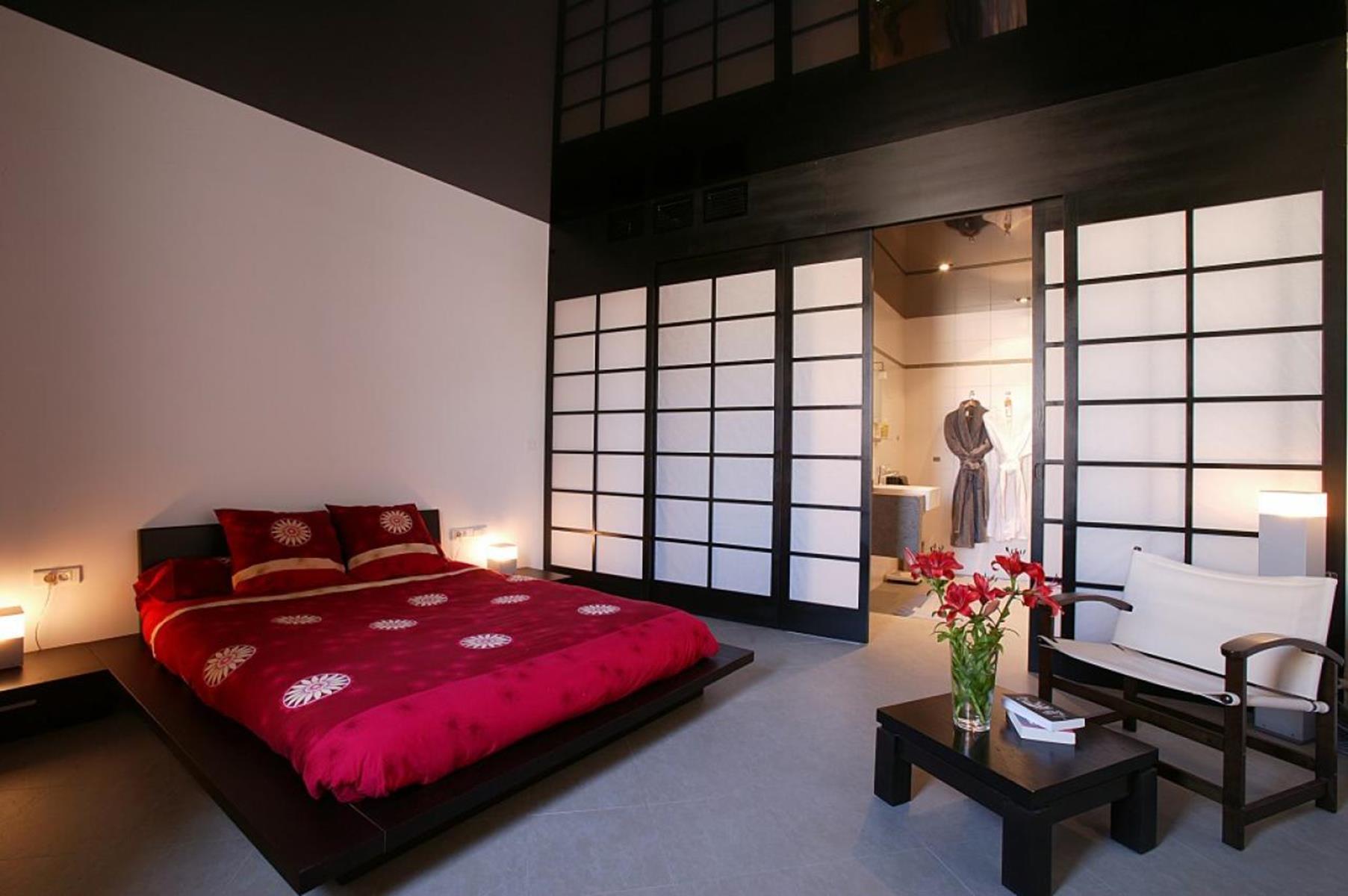Options de photo de chambre de style japonais