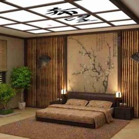 design d'intérieur de chambre de style japonais