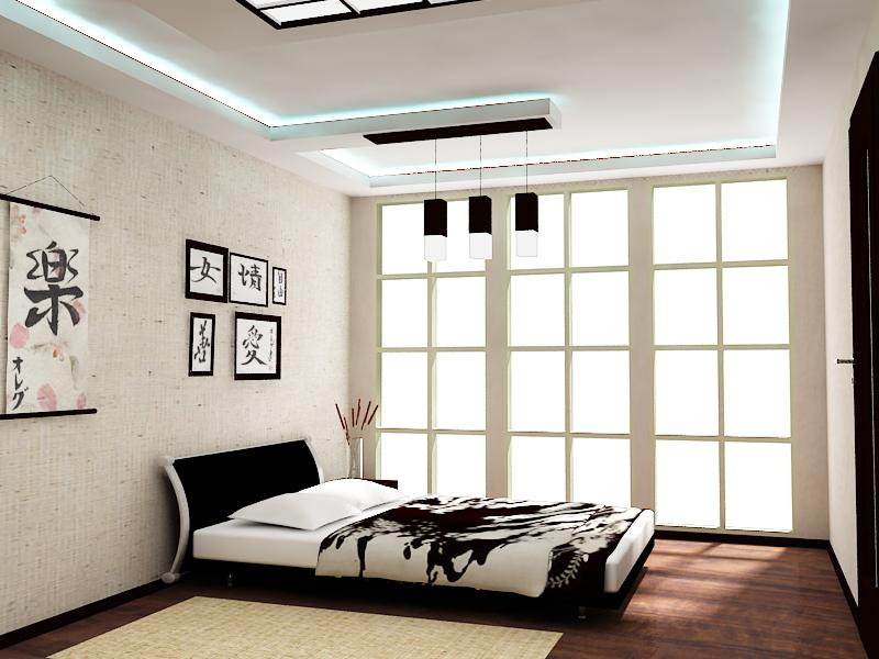 intérieur de chambre de style japonais