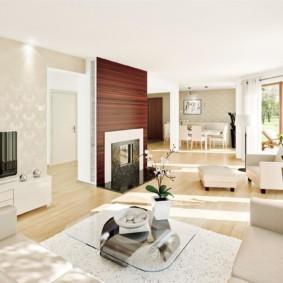 hình nền ánh sáng trong thiết kế phòng khách