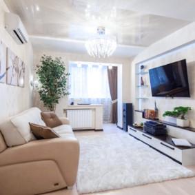 hình nền ánh sáng trong ý tưởng thiết kế phòng khách
