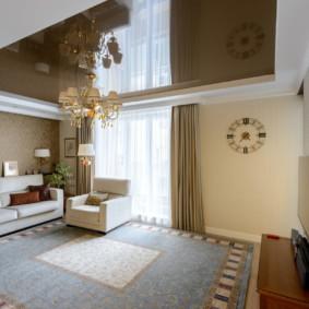 hình nền ánh sáng trong các tùy chọn ý tưởng phòng khách