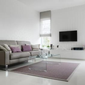 hình nền ánh sáng trong quan điểm nội thất phòng khách