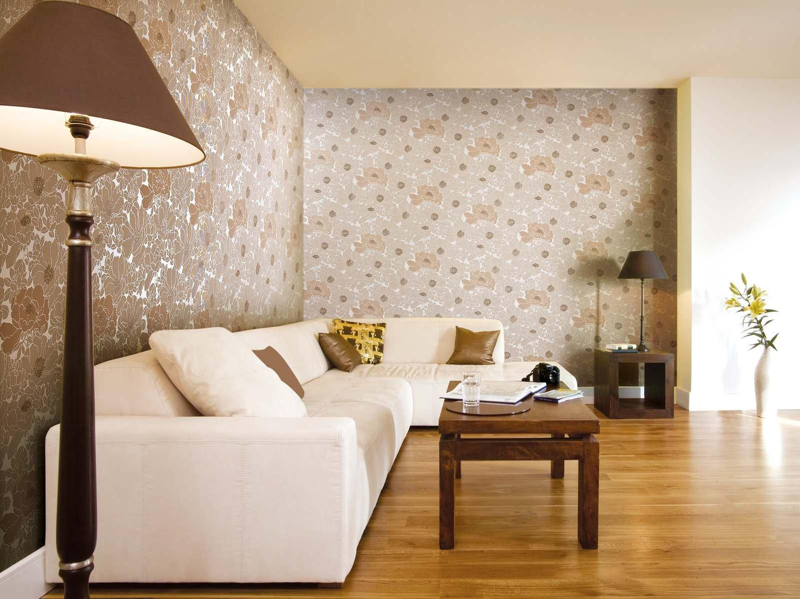 giấy dán tường vải trong phòng khách