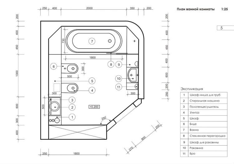 Projet de combinaison salle de bain / WC approuvé