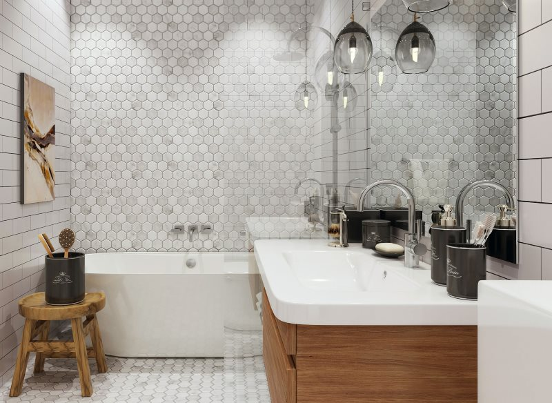 Nội thất phòng tắm theo phong cách Scandinavia