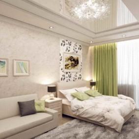 chambre-salon 18 m² options de photo