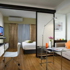 chambre-salon 18 m² décor photo