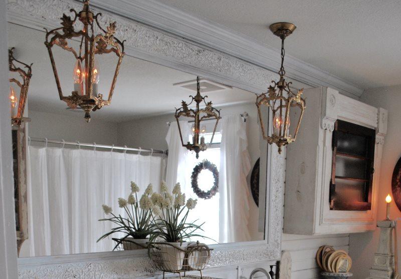 Đồ đạc phòng tắm cổ điển theo phong cách sang trọng tồi tàn