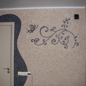papier peint liquide dans le couloir moderne