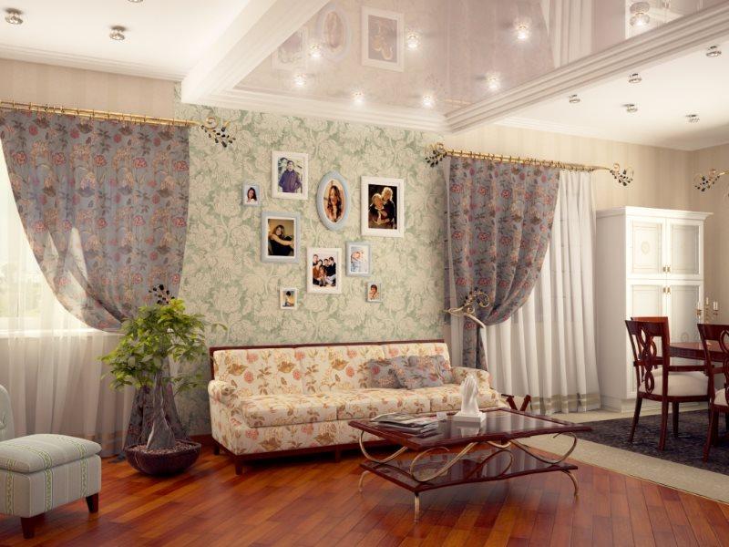 Décorez les photographies du mur dans un studio