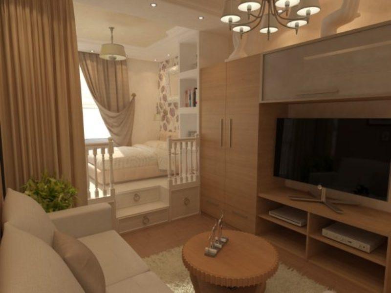 conception d'un salon avec une pépinière dans une pièce