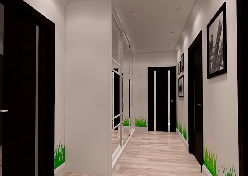 couloir dans une maison en panneaux