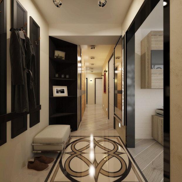 conception de couloir dans un appartement de maison de panneau