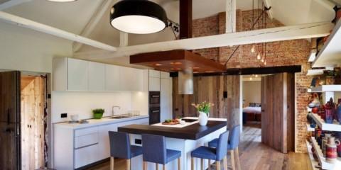 design de bucătărie pe insulă