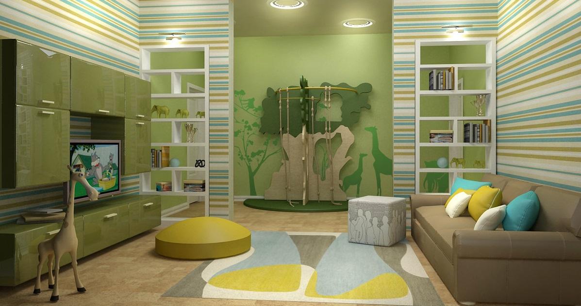 conception de salon pour enfants