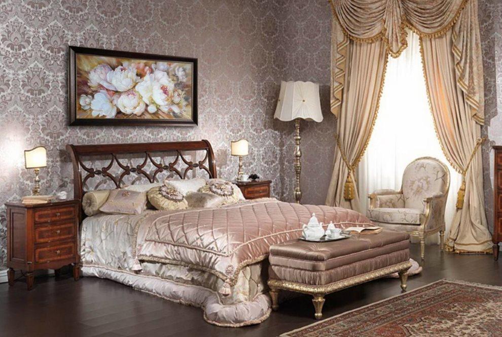 Décoration murale de la chambre avec papier peint en tissu à motif