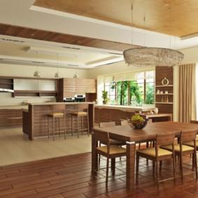 تقسيم مساحة المطبخ لتناول الطعام