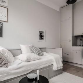 Canapé-lit avec tiroirs