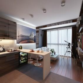 Studio avec fenêtre panoramique