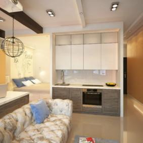 Appartement design avec un casque direct