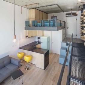 Studio en duplex dans un style moderne