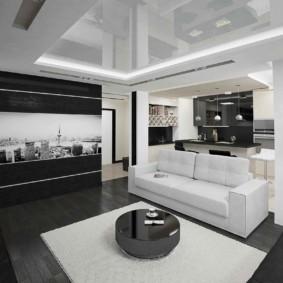 Surface de plafond extensible brillante