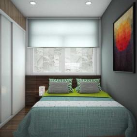 Conception d'une chambre avec store enrouleur