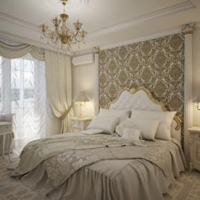 Chambre classique aux couleurs pastel