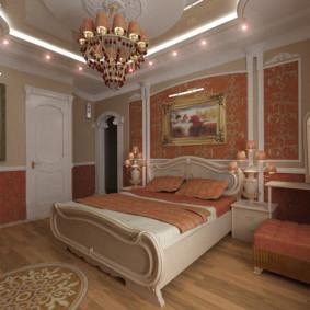 Éclairage décoratif d'un plafond à deux niveaux