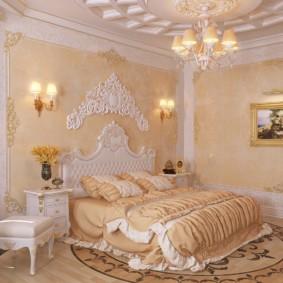 Décorer les murs en stuc de plâtre dans la chambre