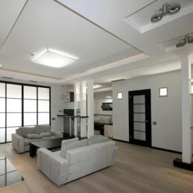Conception de salon avec deux canapés