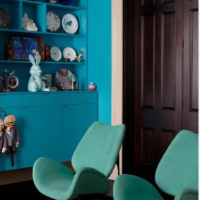 Tapisserie d'ameublement turquoise