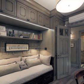 Meubles gris à l'intérieur de l'appartement