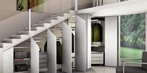 dressing sous les escaliers idées intérieures