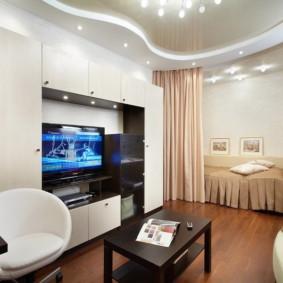 phòng khách và phòng ngủ trong cùng một loại hình ảnh