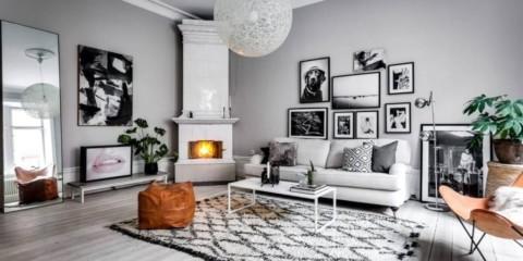 Idées de design de salon de style scandinave